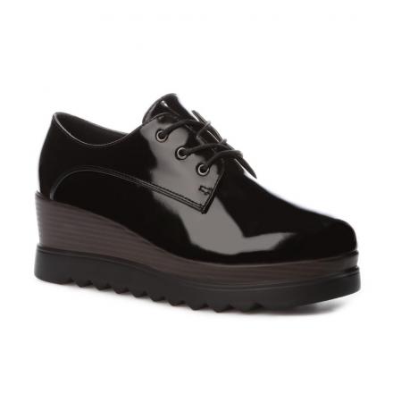 Dámské černé lesklé boty Dasha 101