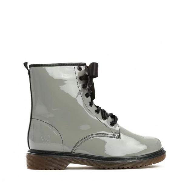 Dámské šedé lakované kotníkové boty Glance 6149 - Svět shopaholiků.cz 88332ef8dd