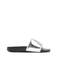 6065209640b Dámské stříbrné pantofle Davis 10761H