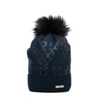 Tmavě modrá čepice Perfect se zlatým vzorem… c8098e4766