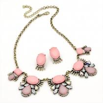 SET: Růžový náhrdelník a náušnice Mona 29239