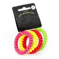 Dámské gumičky do vlasů 29645 barevné - 4 ks
