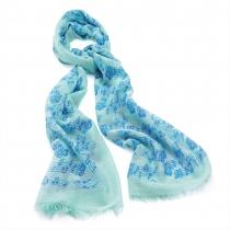 Dámský modrý šátek Music 29335