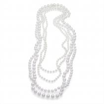 SET: Čtvery bílé korále na krk Oprah 29649