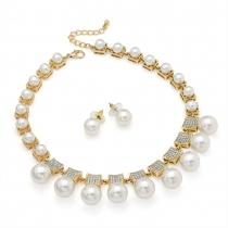 SET: Bílý náhrdelník a náušnice Ellery 29725