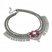 Šedý náhrdelník Margot 29772