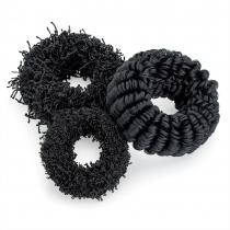 Tři černé gumičky do vlasů Sasha 29704
