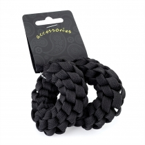 Dvě černé gumičky do vlasů Jess 29914