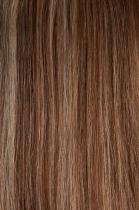 Vlasy s keratinem - 50 cm melír tmavě kaštanová/světlá blond