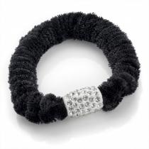Černá gumička do vlasů Velvet 30211