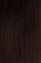 Vlasy s keratinem - 50 cm tmavě hnědá, 50 pramenů