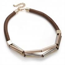 Hnědý náhrdelník Felicita 30079