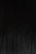 Vlasy s keratinem - 40 cm uhlově černá 50 pramenů