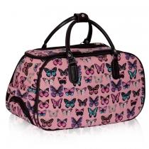 Dámská cestovní taška Butterfly 308A růžová