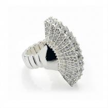 Prsten ve stříbrné barvě Gabi 30128