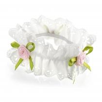 Bílá gumička do vlasů Rosa 29951