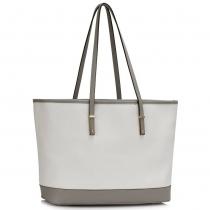 Dámská šedobílá kabelka Porney 461