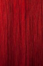 Vlasy s keratinem - 50 cm červená, 10 pramenů