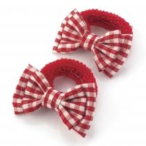 Dvě červené gumičky do vlasů 28134