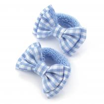 Dvě světle modré gumičky do vlasů 28136