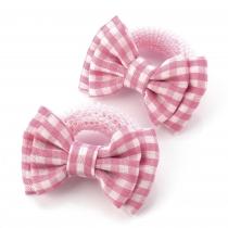 Dvě růžové gumičky do vlasů 28137