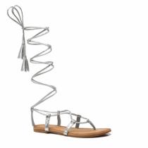 Dámské stříbrné sandály Blance 6011