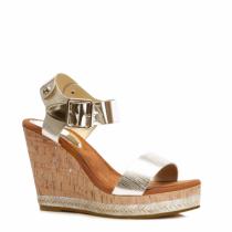 Dámské zlaté sandály Mango 2007