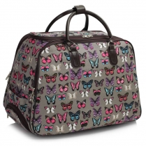 Dámská cestovní taška Butterfly 309B šedá