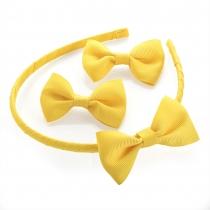SET: Žlutá čelenka a sponky do vlasů 29948