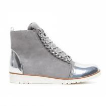 Dámské světle šedé kotníkové boty Danna 1044a