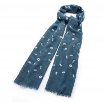 Dámský modrý šátek Daisy 30476