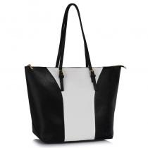 Dámská černobílá kabelka Meghan 496