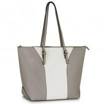 Dámská šedobílá kabelka Meghan 496