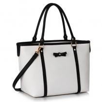 Dámská černobílá kabelka fabira 507