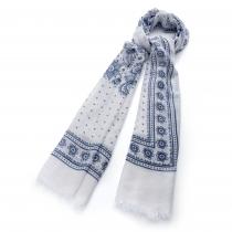 Dámský modrý šátek Bella 30490
