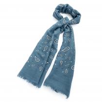 Dámský modrý šátek Cristina 30473