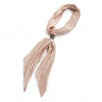 Dámský plisovaný krémový šátek Crinkle 30503