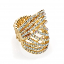 Dámský prsten ve zlaté barvě Sheila 30521