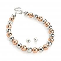 SET: Dvoubarevný náhrdelník a náušnice Clara 30652