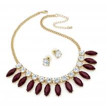 SET: Červený náhrdelník a náušnice Donna 29730