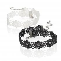 Dva háčkované choker náhrdelníky Melati 30555