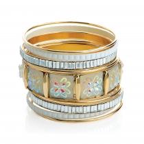 Devět náramků ve zlaté barvě Dores 30769