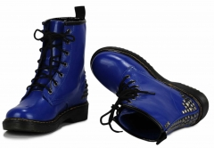 Dámské modré kozačky Punk 113