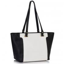 Dámská černobílá kabelka Delire 497