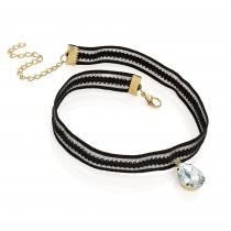 Černý choker náhrdelník Boly 30561
