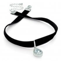 Černý choker náhrdelník Johanne 29472