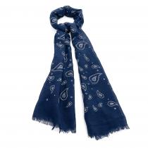 Dámský modrý šátek Cristina 30732