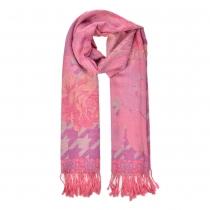 Dámská růžová šála se vzorem Janette 811