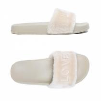 Dámské béžové pantofle Lovely 026
