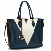 Dámská modrobílá kabelka Cortegena 426